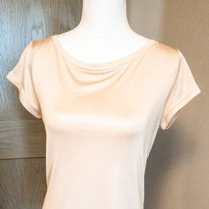 Limited size medium rose gold and cream tee